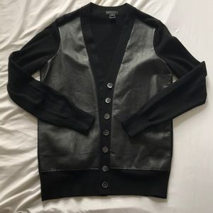 J. Crew - Leather Paneled Cardigan // Size XS